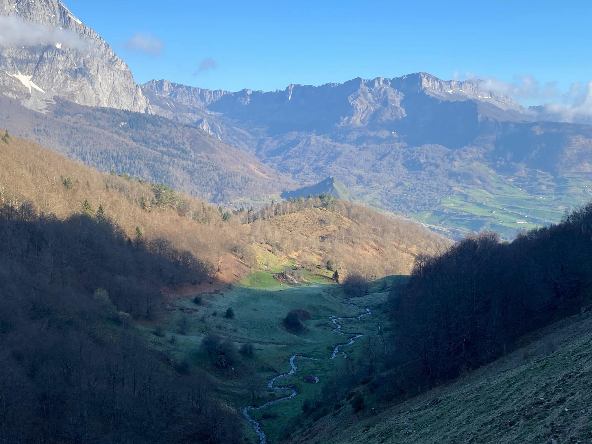 vallon du ruisseau de l'Annès au Nord du Pic de Bricoutou